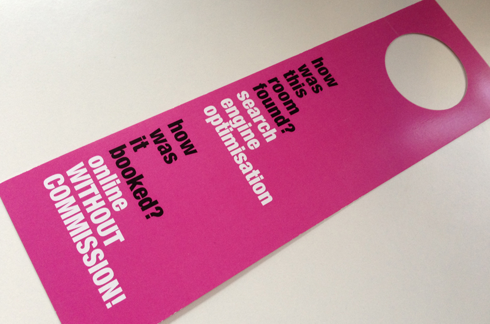 Hotel Marketing Berlin e-conceptory - Door hanger